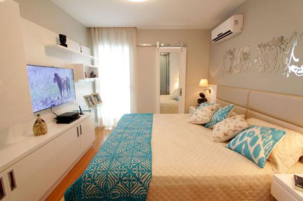 Ideais para TV no quarto de casal